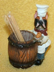 Boxer Chef Dog Figurine