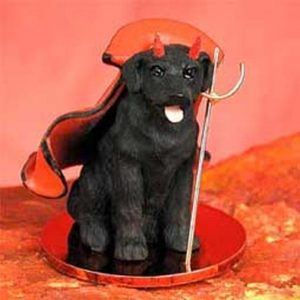 Labrador Retriever, Black Devil Dog Figurine