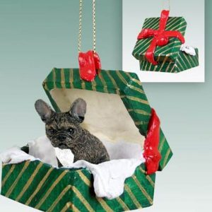 French Bulldog Gift Box Ornament
