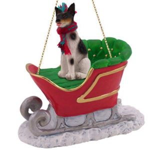 Rat Terrier Sleigh Ride Ornament